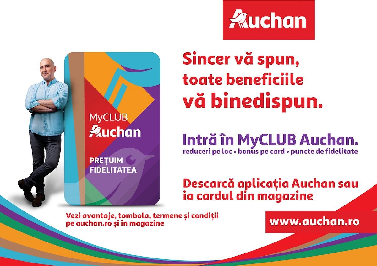 Surpriză pentru sibieni: Auchan România a lansat programul de fidelitate MyCLUB Auchan