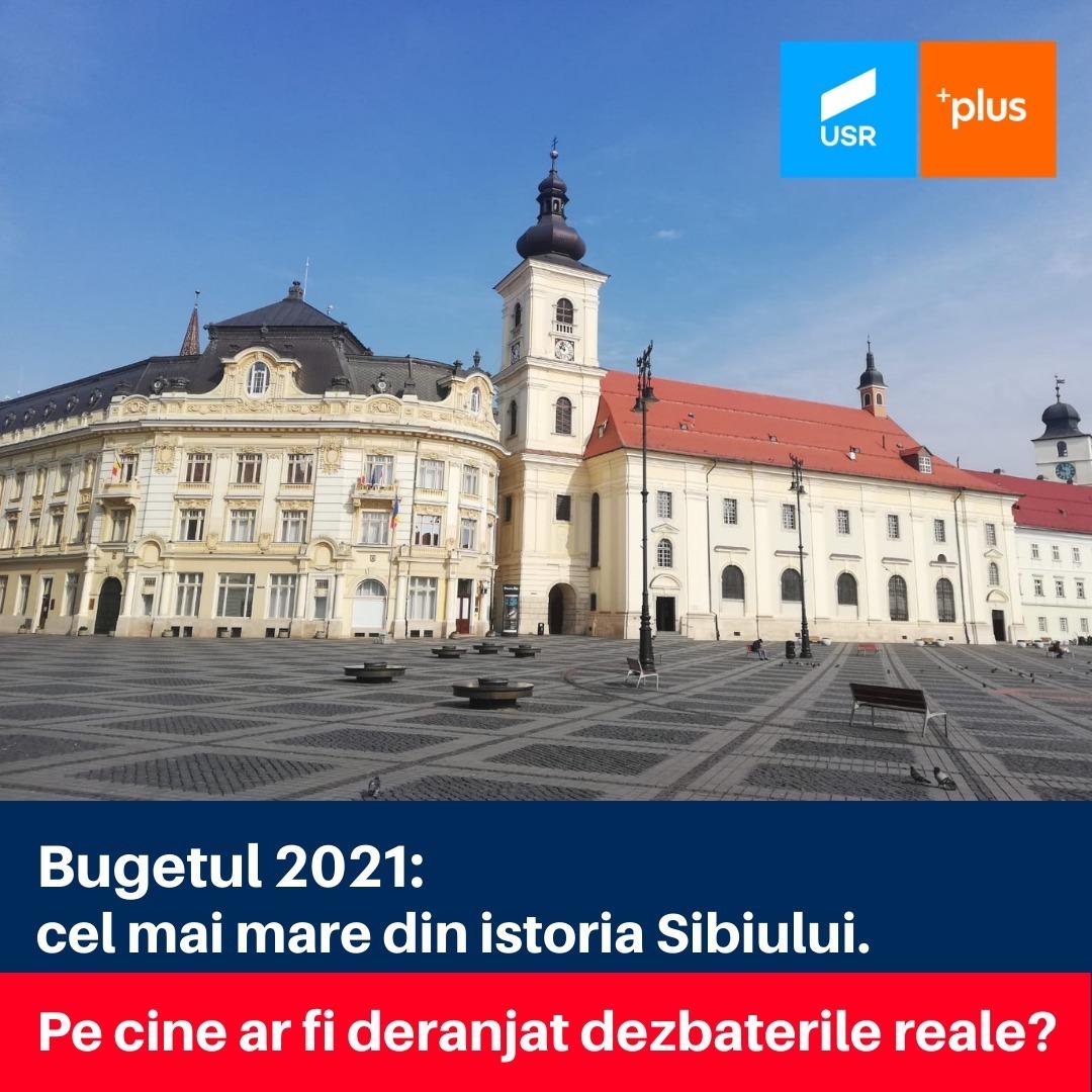 Propunerile USR PLUS pentru bugetul Municipiului Sibiu: dezbateri reale și buget pus în dezbatere în format accesibil fiecărui cetățean
