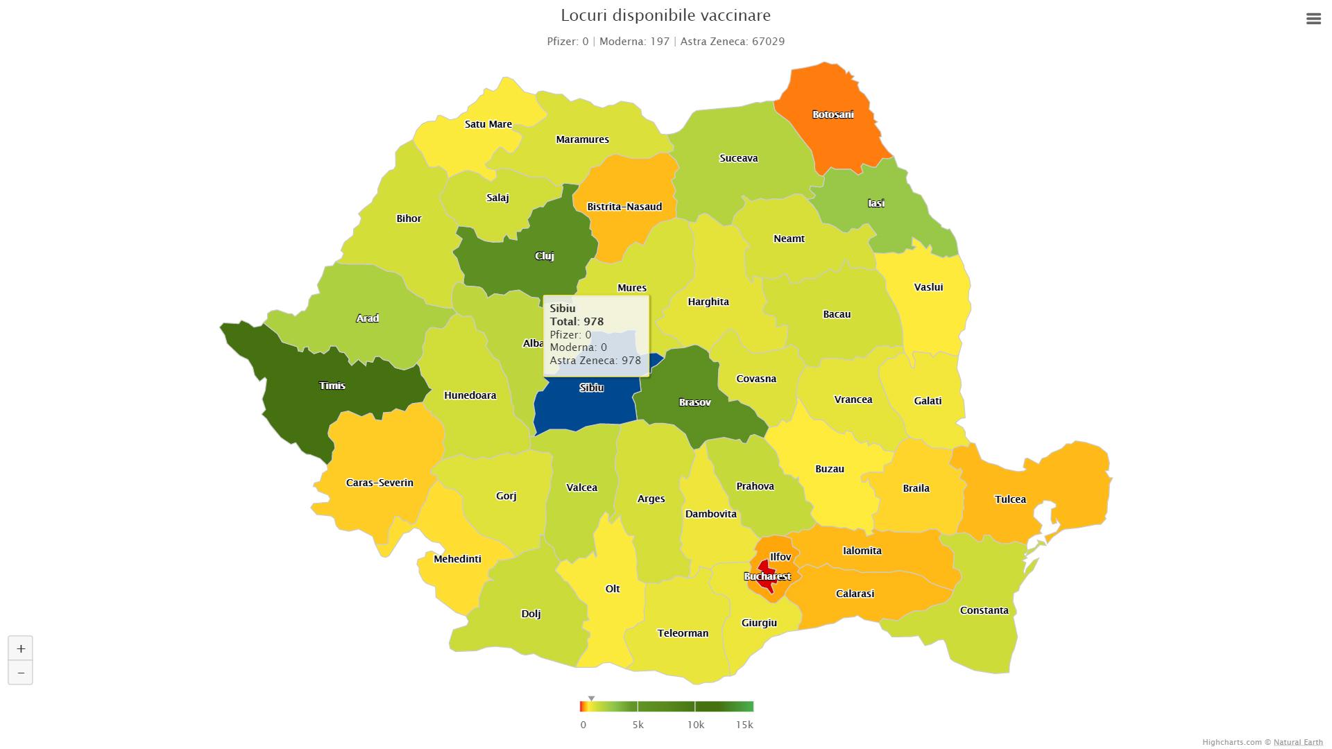Aproape 500 de locuri disponibile la vaccinararea cu AstaZeneca, în muncipiul Sibiu. Aproximativ 1.000, în tot județul