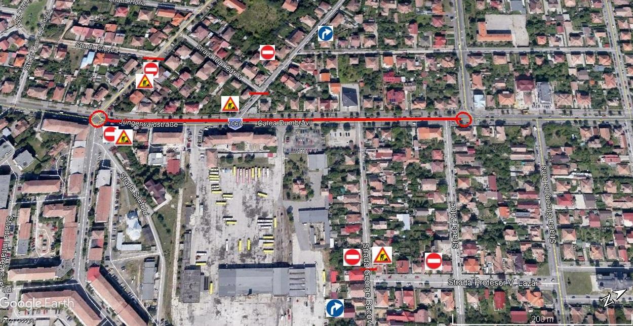 Constructorii închid circulația pe aproape 500 de metri din Calea Dumbrăvii începând de sâmbătă