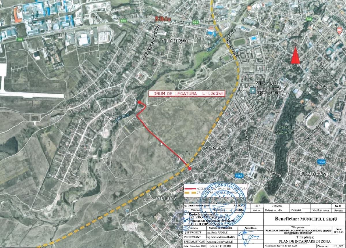 Primăria Sibiu: Încep lucrările de construcție a noului drum care leagă cartierele Ștrand și Turnișor