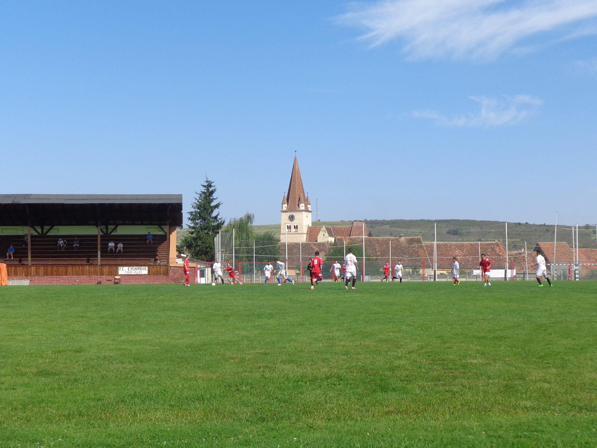 C.S. Academia Măgura Cisnădie – Viitorul Șelimbăr, primul meci de fotbal cu spectatori, din județ