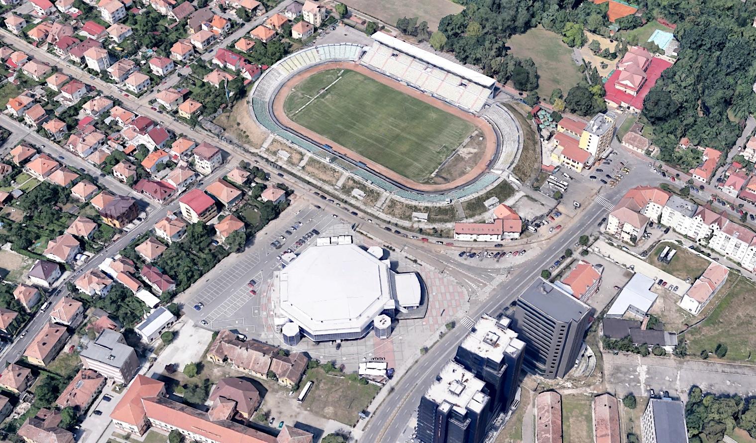 Peste drum de șantierul extinderii stadionului, și Sala Transilvania pregătește extinderea