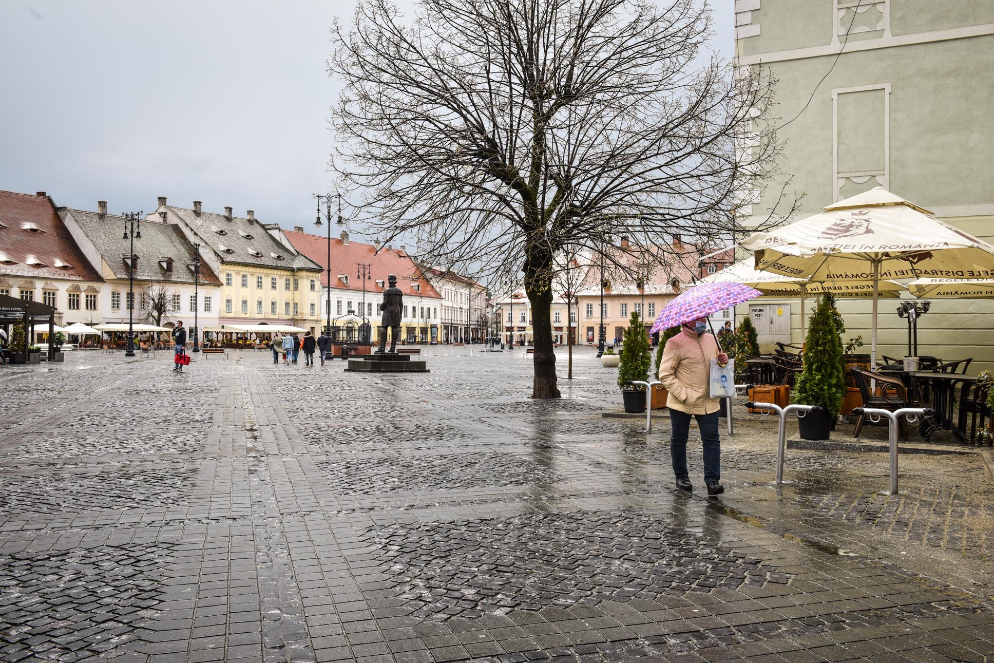 Cod galben și portocaliu de ploi în județul Sibiu