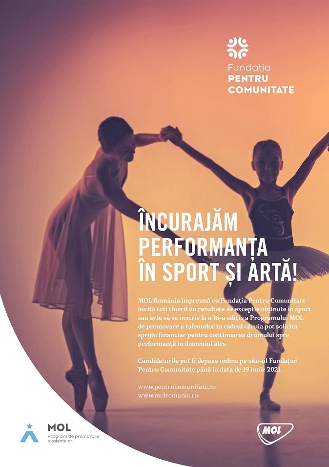 Sprijin financiar pentru proiectele tinerilor sportivi și artiști sibieni. Înscrierile în program se fac până în 19 iunie