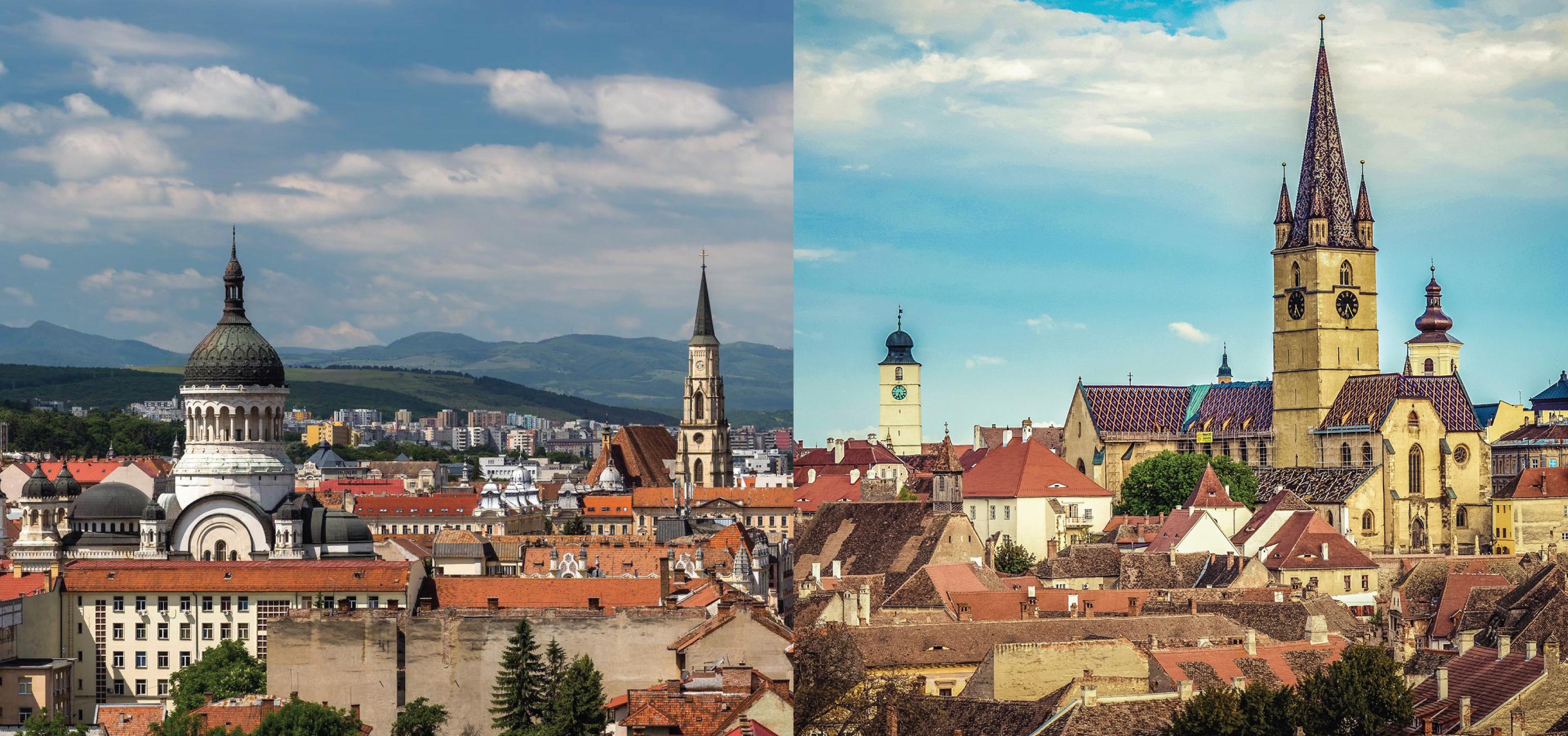 Statistică Sibiu vs. Cluj. Sibienii sunt mai puțini, dar mai muncitori. În schimb, la Cluj e mai bine să fii bolnav