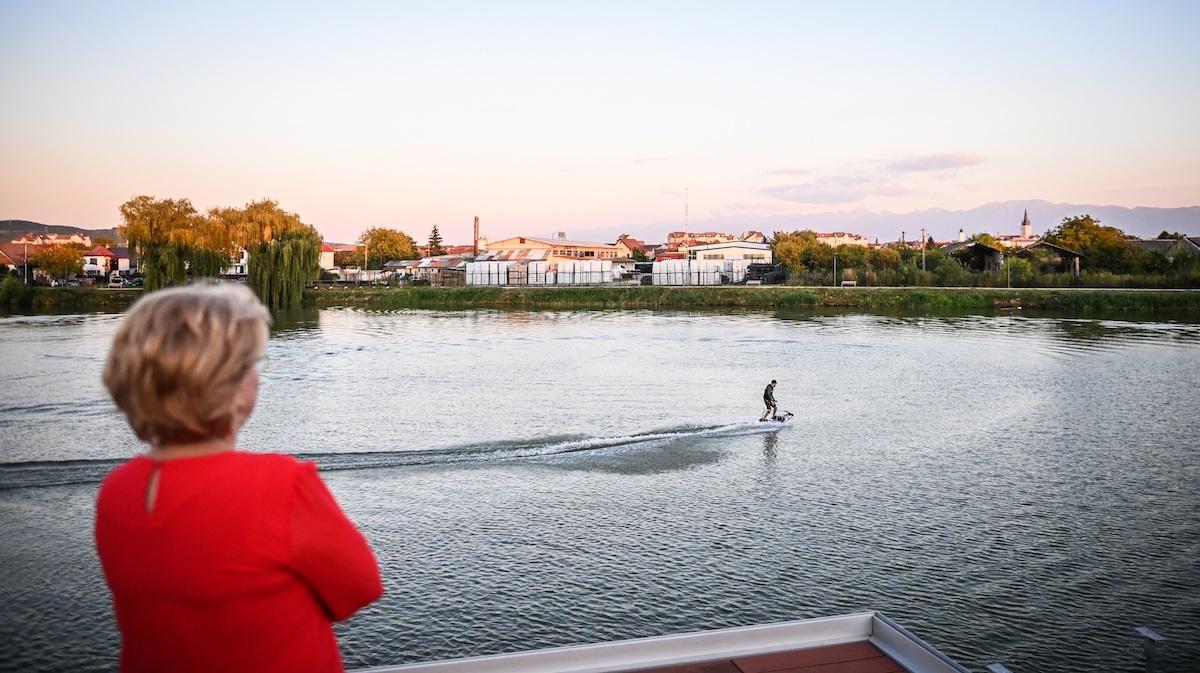 Primăria Sibiu: Amenajarea Lacului lui Binder pentru sport și agrement, în linie dreaptă