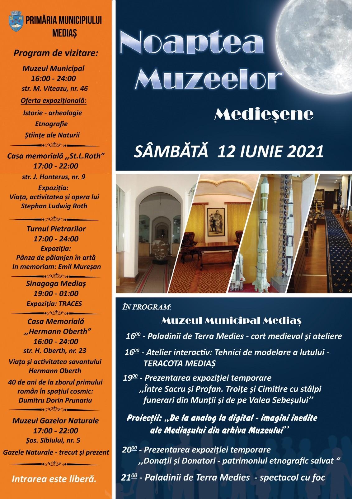 Noaptea Muzeelor Medieșene – 12 iunie 2021
