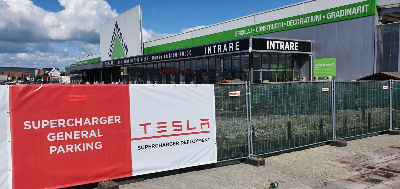 120 de km, în cinci minute. Tesla a început lucrările la prima stație supercharger din Sibiu