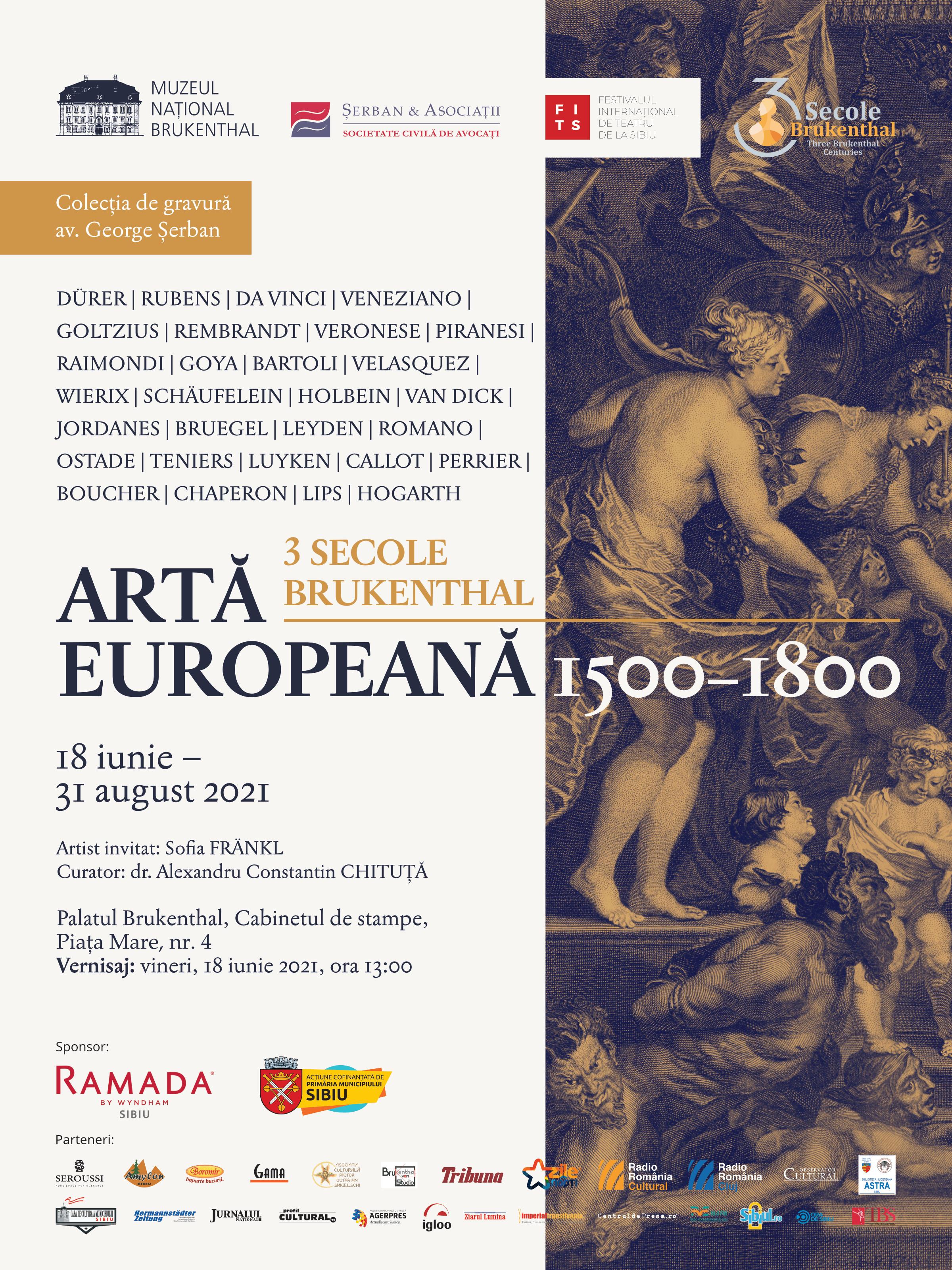 Premieră națională: cea mai importantă expoziție de gravură europeană poate fi vizitată la Muzeul Național Brukenthal