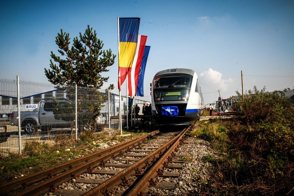 Pentru ce îi sunt alocați Sibiului bani din PNRR: tren interurban, locomotive pe baterii spre Copșa Mică, deșeuri și un centru al Științei