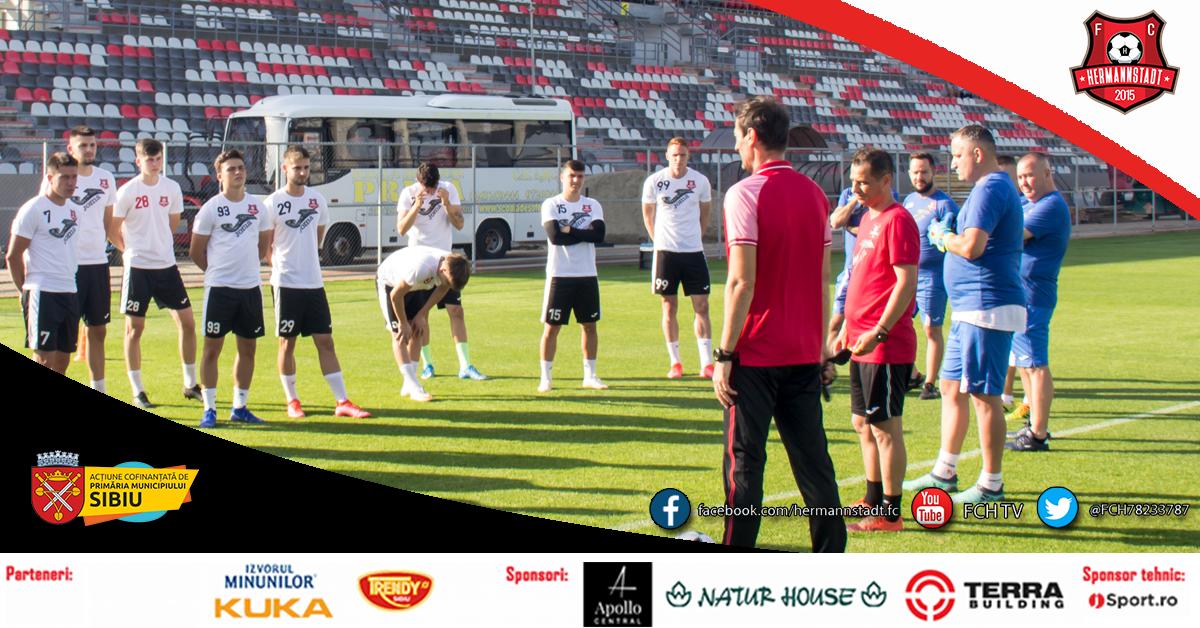 "FC Hermannstadt a avut primul antrenament din noul sezon. ""Vom merge rapid în Liga1"""