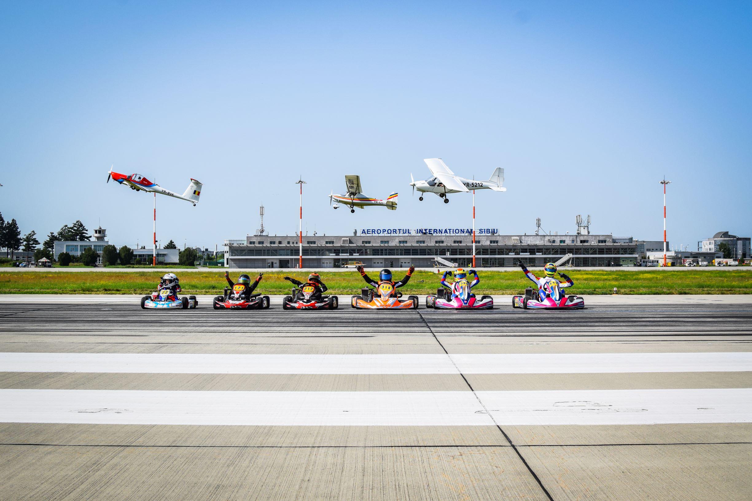Imagini inedite pe Aeroportul Sibiu: ne-am dorit să aducem în atenția autorităților importanța construirii unui Circuit de karting