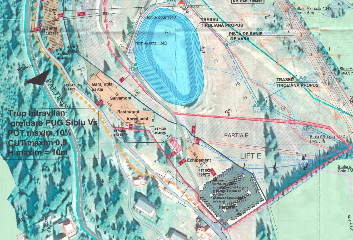 Primăria Sibiu: consultare publică pentru noua parcare a noii pârtii de schi de la Arena Platoș