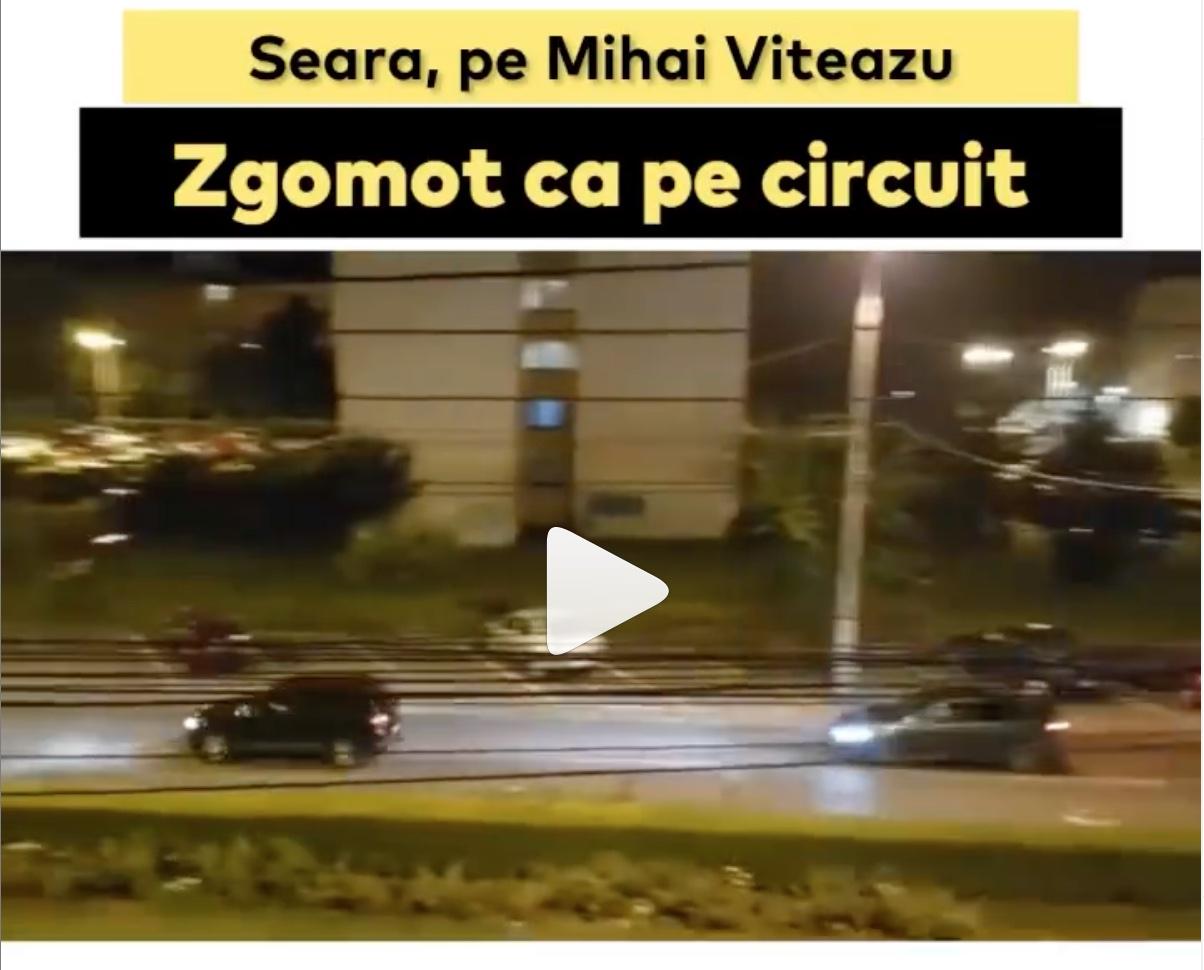 VIDEO Motoare turate pe Bulevardul Mihai Viteazu. Poliția: intensificăm monitorizarea traficului rutier