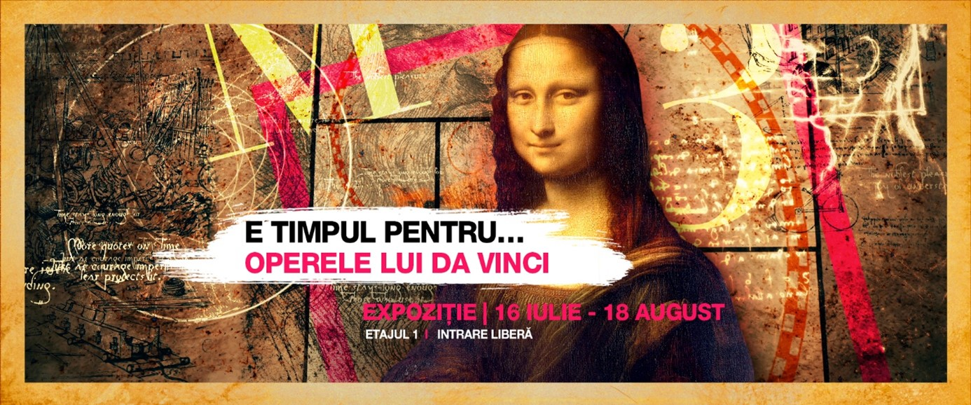Descoperă invențiile și arta lui Leonardo da Vinci în cadrul unei expoziții interactive la Promenada Sibiu