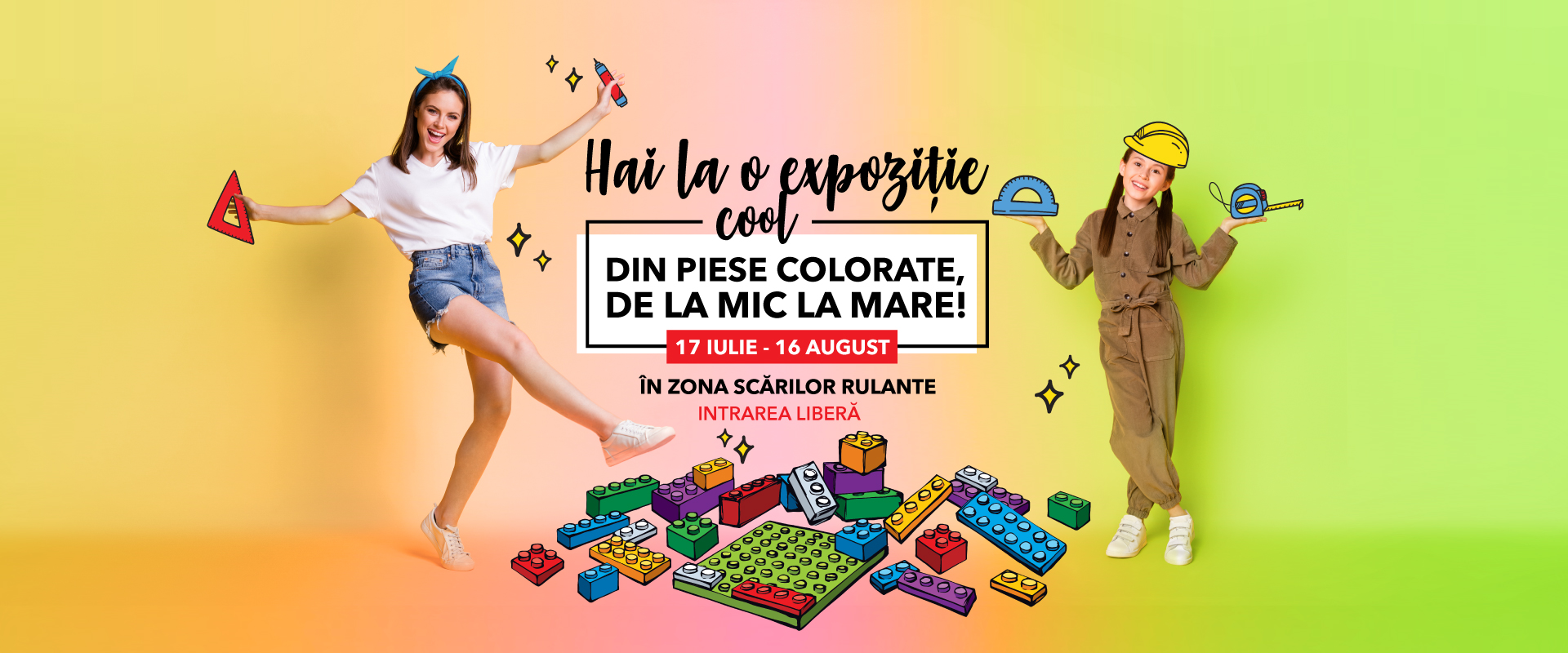 Mergem, cu mic cu mare, la cea mai cool expoziție din piese colorate, la Shopping City Sibiu