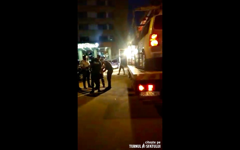 VIDEO Un cisnădian căruia i se ridica mașina în Sibiu a făcut un scandal de 4.430 de lei