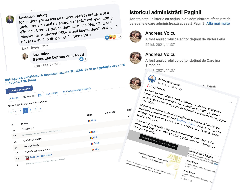 Lupta din PNL Sibiu se desfășoară online: Petiție împotriva Ralucăi Turcan, bătaie pentru controlul paginii de Facebook a organizației