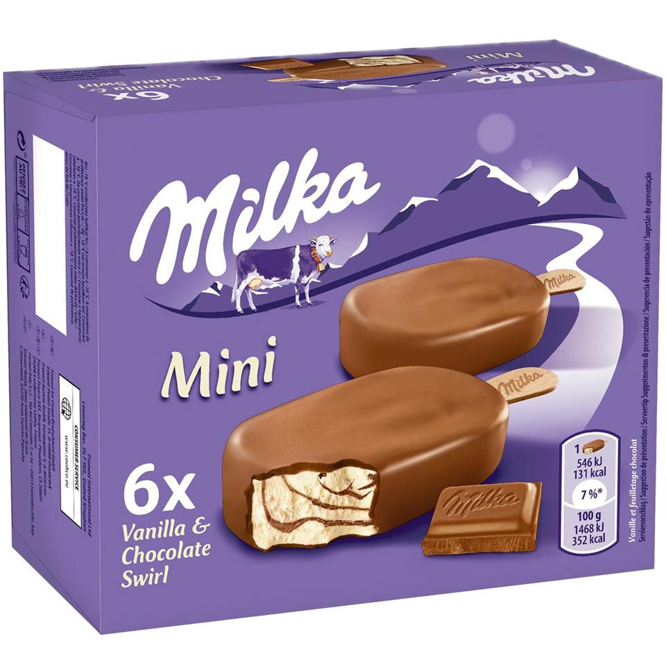 Loturi de înghețată Milka sunt retrase de pe piață. Înghețata depăşeşte limitele legale pentru oxidul de etilenă