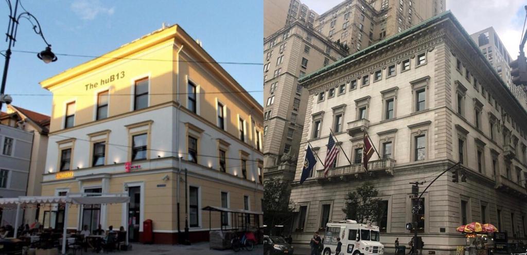 FOTO - Clădirea din centrul Sibiului care are o soră geamănă în inima New-York-ului