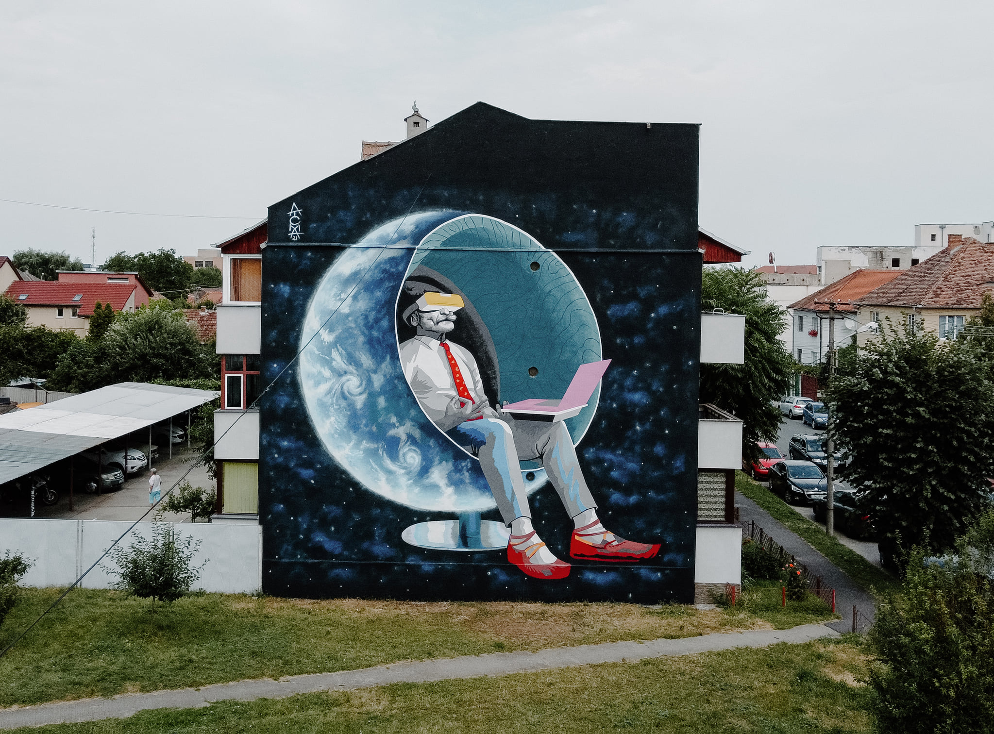 Foto – Cum arată clădirile pictate în acest an la Street Art Festival Sibiu