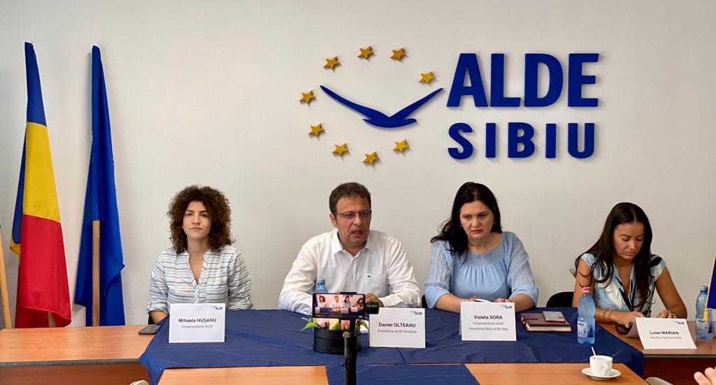 """Daniel Olteanu, președintele ALDE: """"Ne aflăm la Sibiu pentru că ALDE merge mai departe"""""""