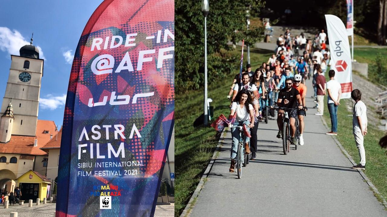 Bilete mai ieftine pentru sibienii care merg cu bicicletele la Astra Film Festival
