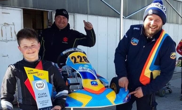 La doar 12 ani, sibianul Mircea Marco Pătru a câștigat Cupa României și este multiplu vicecampion național la Karting