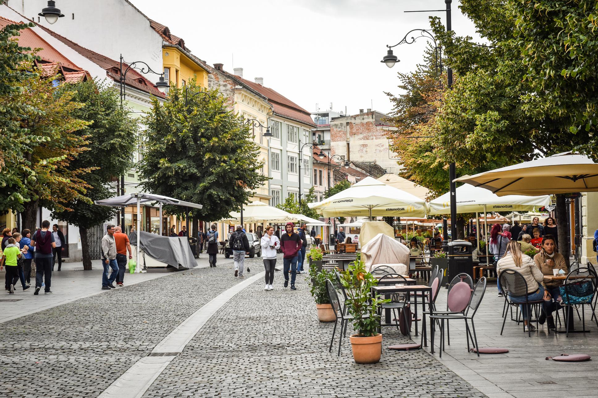 Aproape 200 de cazuri active în orașul Sibiu. 8 localități din județ au o incidență de peste 1