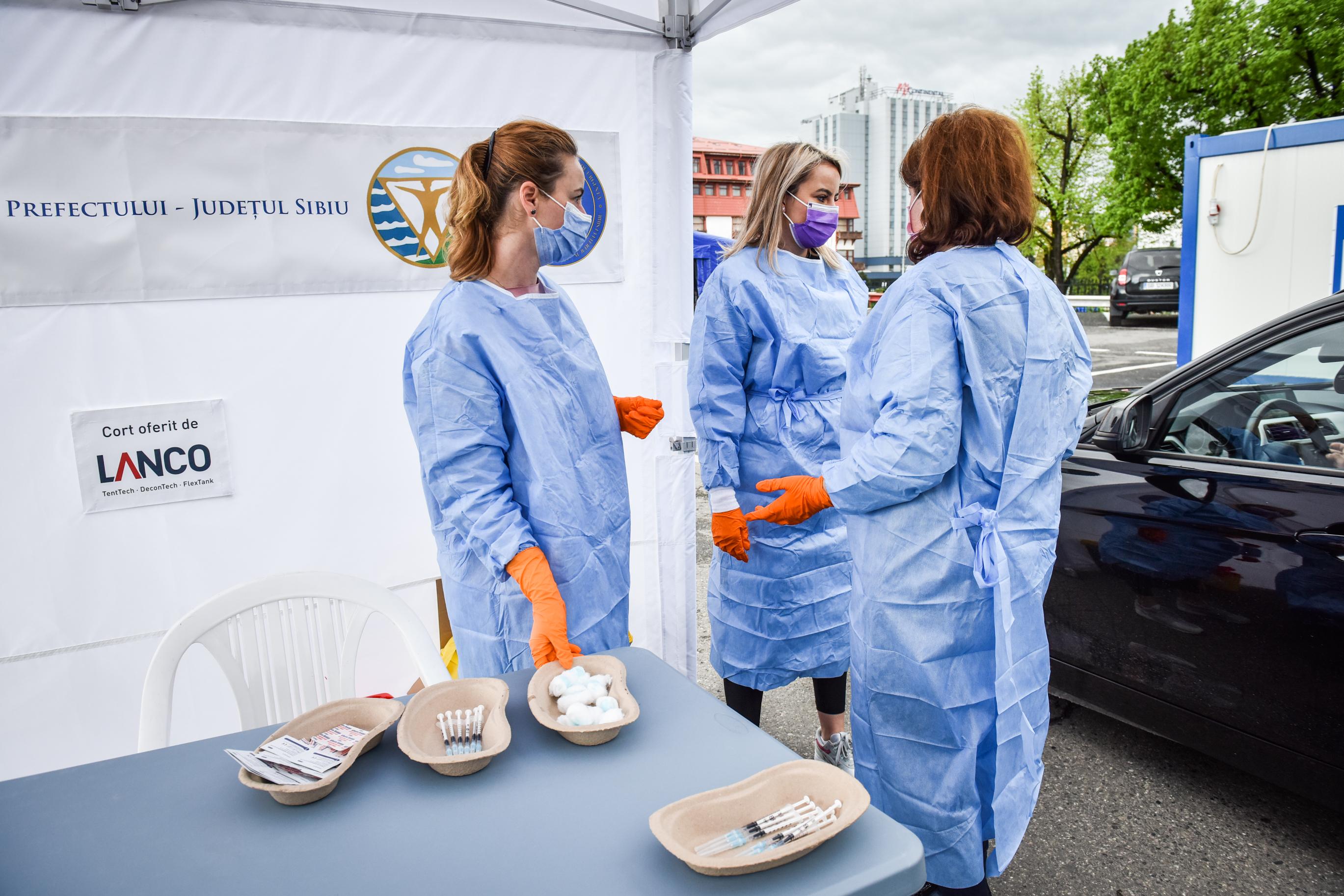 72 de persoane s-au vaccinat în acest week-end în Sibiu