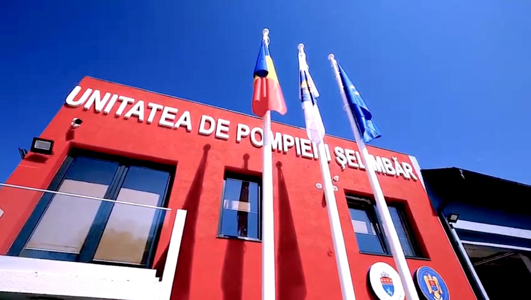 VIDEO ISU Șelimbăr a devenit operațional după o investiție de aproape 2 milioane de lei. 50 de angajați vor asigura trei schimburi de intervenție