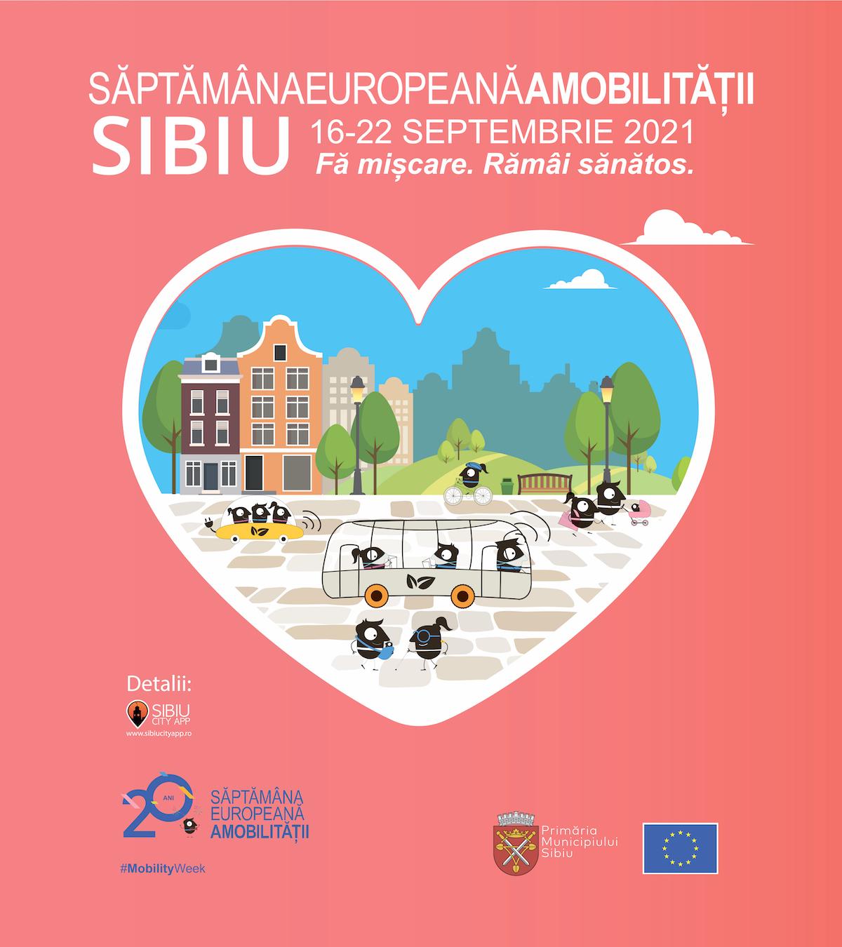 Săptămâna Europeană a Mobilității în Sibiu:  Programul detaliat al activităților