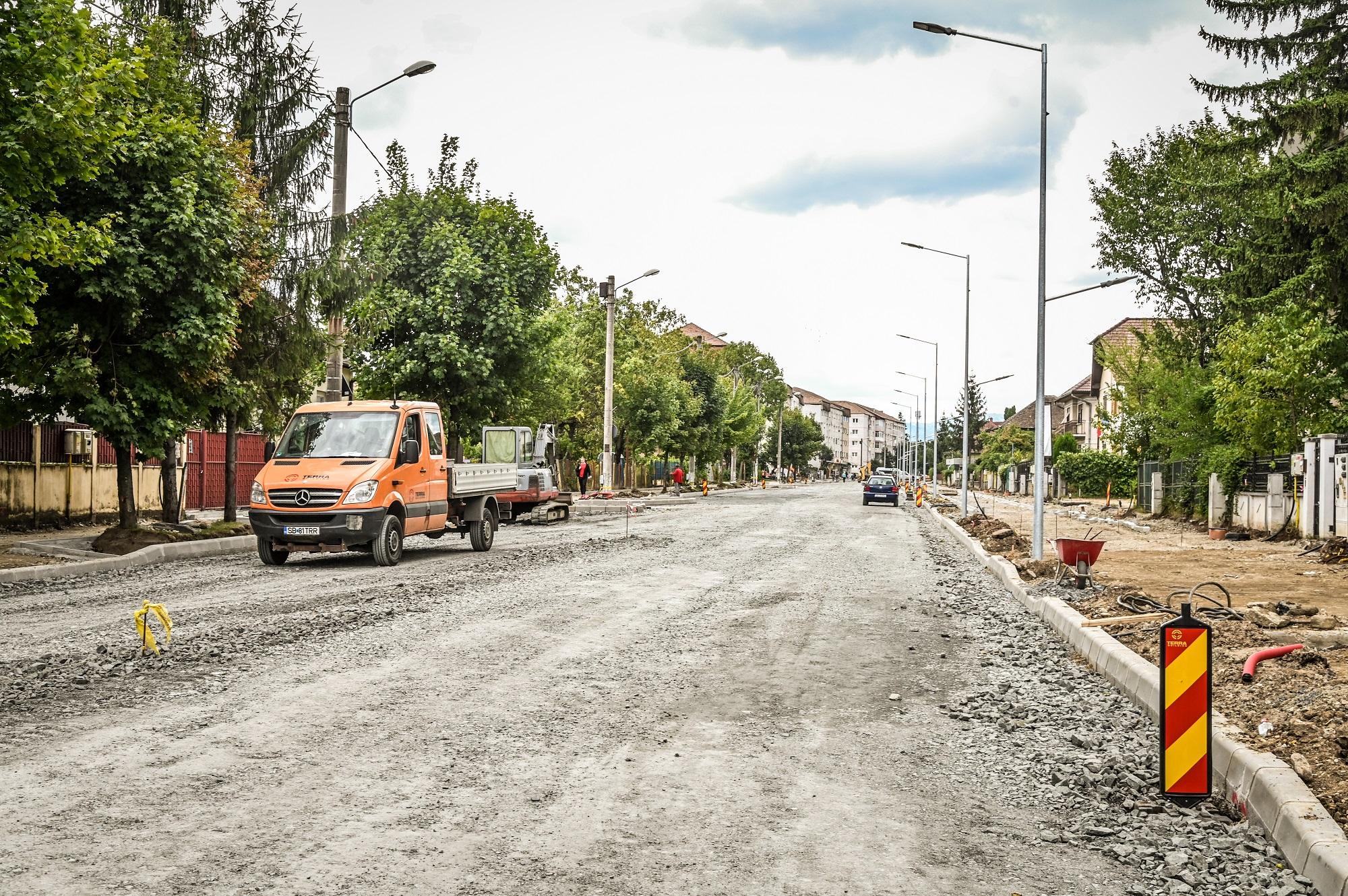 Șantierul de pe Calea Dumbrăvii: de luni se inchide tronsonul dintre străzile Dima și Vlahuță