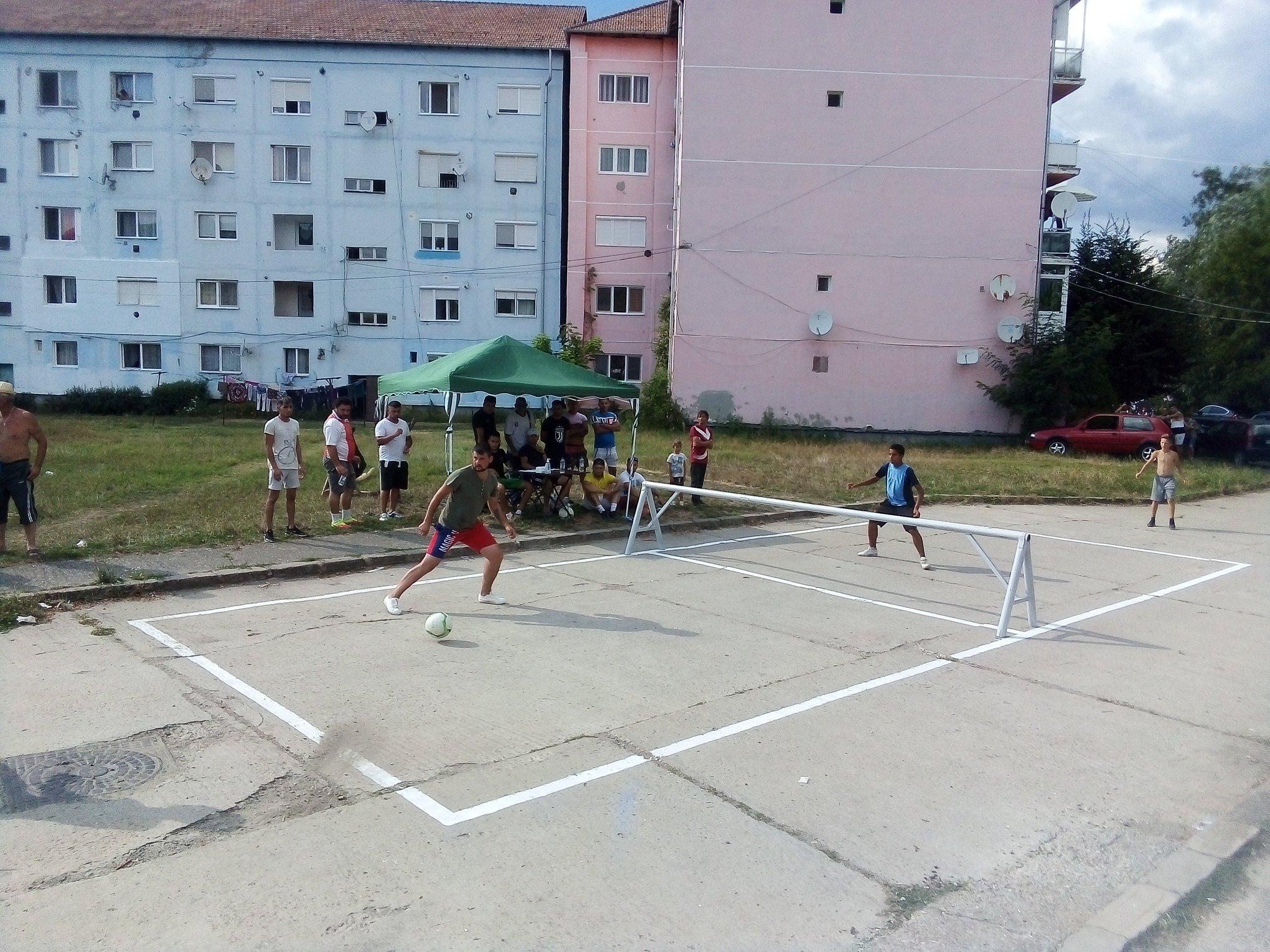 Campionatul de tenis cu piciorul de la Copșa Mică, la a doua ediție
