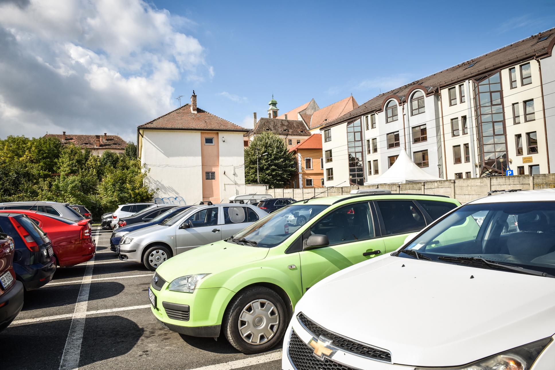 Cele mai scumpe locuri de parcare din Sibiu