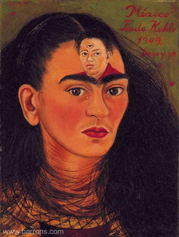 Un autoportret semnat Frida Kahlo, estimat să fie vândut cu 30 de milioane de dolari la licitaţie la New York