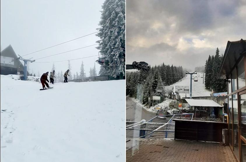 VIDEO A nins și la Păltiniș. Se fac deja planuri pentru sezonul de ski