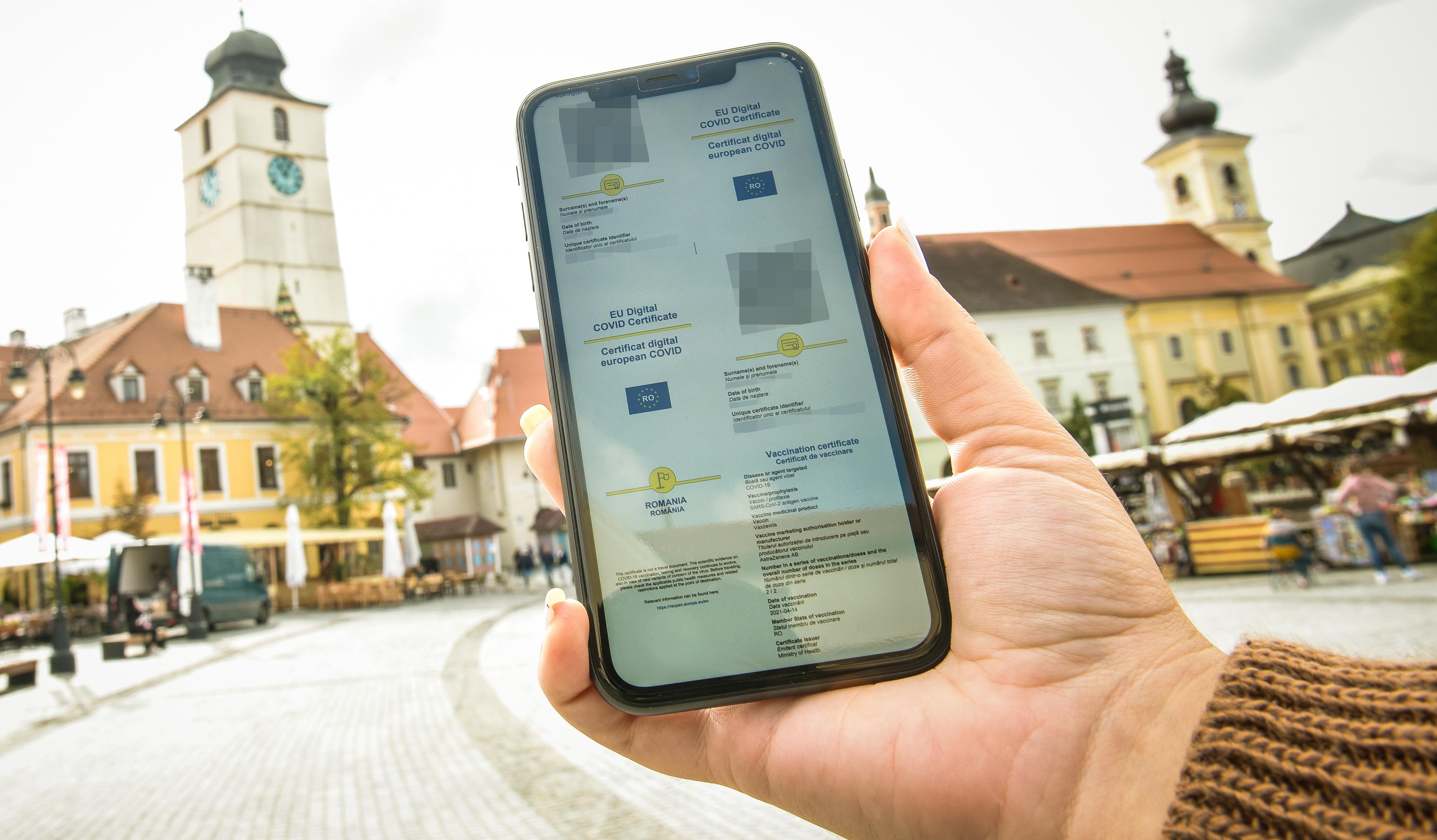 Certificat verde pentru orașul Sibiu, incidența este de 3,07 la mie. Prefectura Sibiu, termen de maxim 48 de ore să ia decizii privind restricțiile