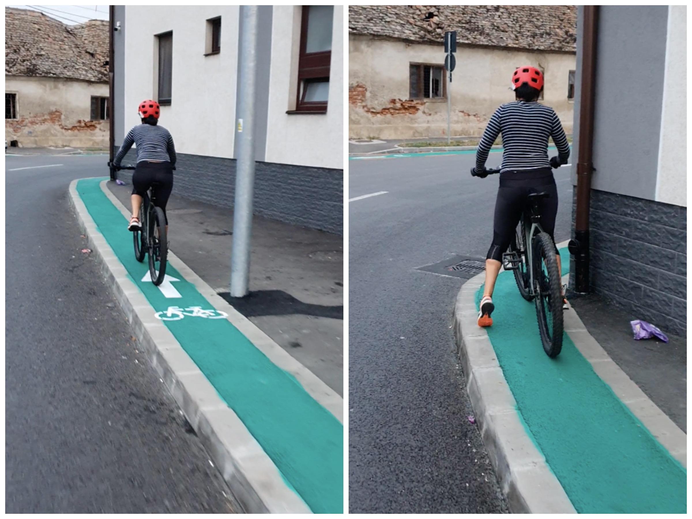 """VIDEO Primăria, drept la replică despre noul trotuar/pistă de biciclete de 90 de cm: """"atât a permis lățimea"""""""
