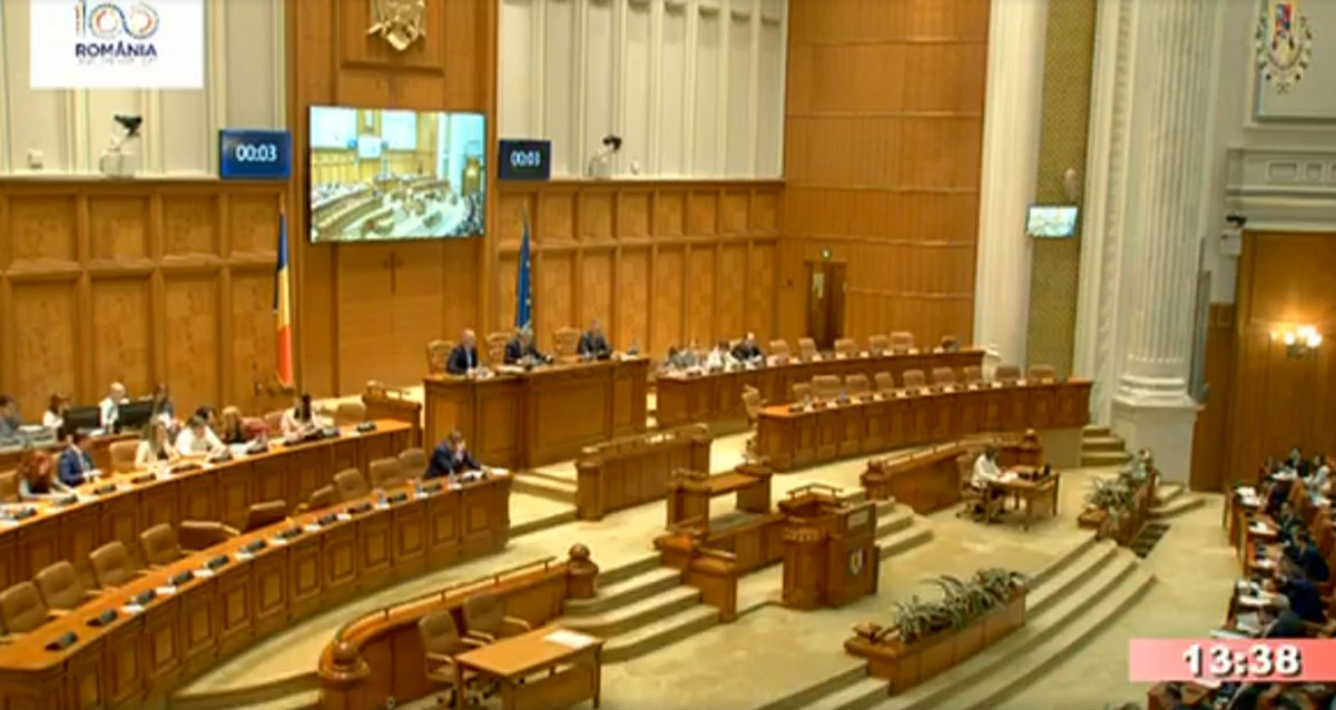 A fost amânată Şedinţa Birourilor Permanente ale Camerelor pe tema moţiunii de cenzură USR PLUS-AUR din lipsă de cvorum